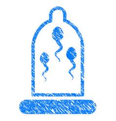Sperm prevention condom grunge icon vector