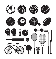 Sport Equipment Silhouette vector