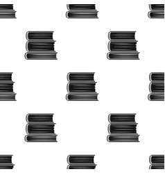 Stack of books icon in black style isolated on vector
