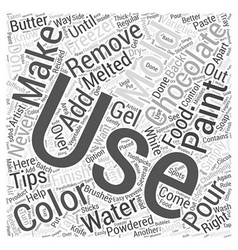 Tips for Making Chocolate Word Cloud Concept vector image