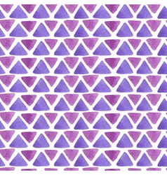 triangle watercolor pattern purple vector image