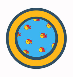 View from porthole window cartoon vector