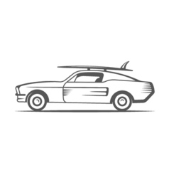 Vintage Surf Car vector