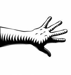 woodcut hand vector image