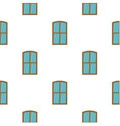 Wooden brown window pattern flat vector