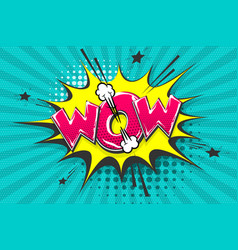 wow boom bang comic text speech bubble vector image
