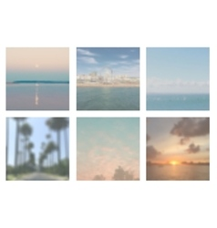 Collection of 6 vintage blurred backgrounds vector image