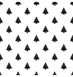 Fir tree pattern simple style vector image