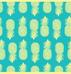 fresh blue yellow pineapples geometric vector image vector image