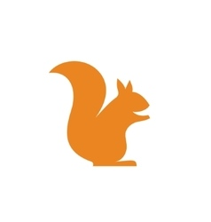 Orange squirrel sits minimalism into flat vector image vector image
