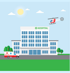 city hospital building or clinic vector image vector image