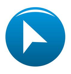 cursor trendy element icon blue vector image vector image