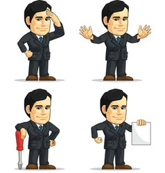 Businessman or Company Executive Customizable 9 vector image vector image