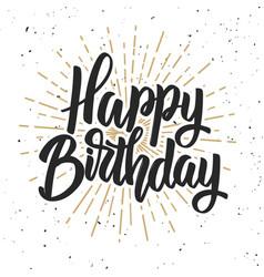 Happy birthday hand drawn lettering phrase vector