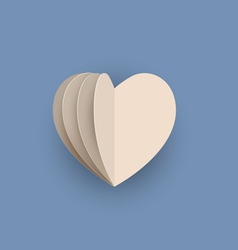 papercraft heart vector image vector image