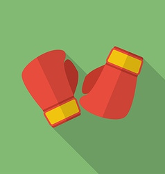 Boxing gloves icon Modern Flat style with a long vector image vector image
