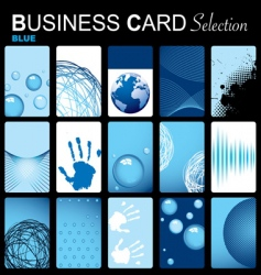 business card selection vector image vector image