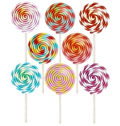 Candy on stick with twisted design EPS 10 vector image