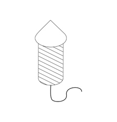 Firecracker icon isometric 3d style vector image vector image