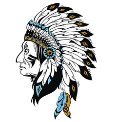 Indian chief vector image