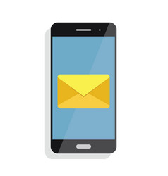 notification of an incoming email to a smartphone vector image