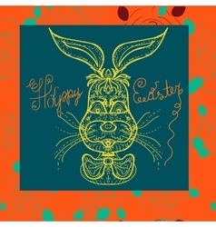 Very Happy Easter Easter Bunny vector image