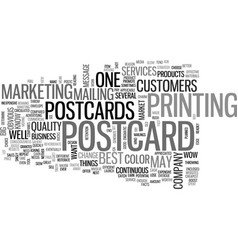 what you should know about postcards text word vector image vector image