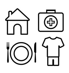 4 basic human needs outline icon vector image