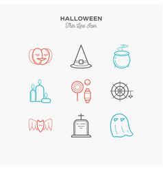 9-line-color-icons vector image