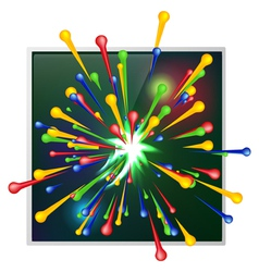 Abstract background of explosion paint vector image