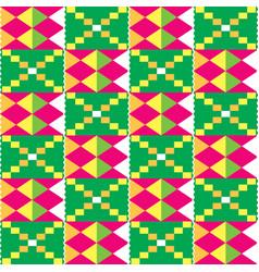 African kente tribal geometric seamless pattern vector