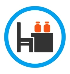 Apothecary Table Rounded Icon vector