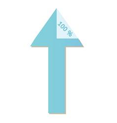 arrows with percentage vector image