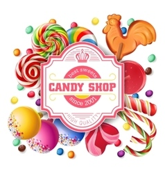 Background of sweets vector