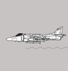 bae sea harrier fa2 vector image