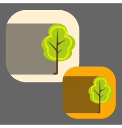 beautiful icon flat blossoming tree eps vector image