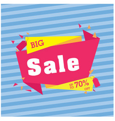 big sale up to 70 off origami blue background vec vector image
