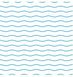 black seamless wavy line pattern vector image