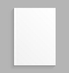 blank cover of magazine book booklet brochure vector image