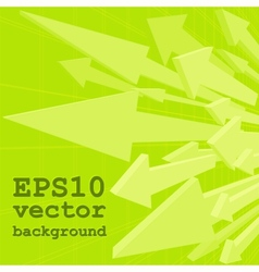 Bunch of green arrows vector image