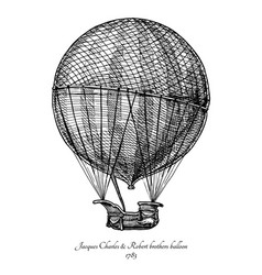 Charles amp robert brothers balloon vector