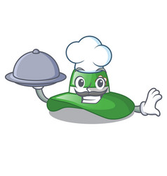 chef with food beach hat isolated in the with vector image