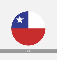 chile round circle flag vector image
