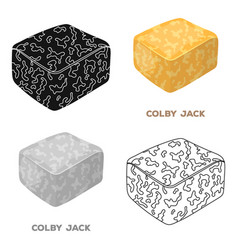 Colby gackdifferent kinds of cheese single icon vector