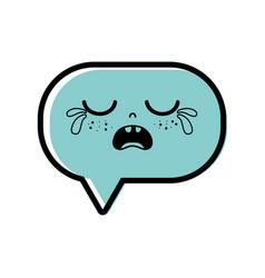 Color gaudy chat bubble kawaii cartoon vector