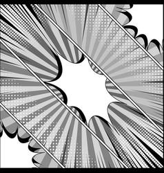Comic monochrome diagonal template vector