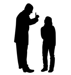 conflict between father and teenage daughter vector image