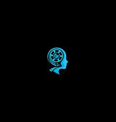 creative movie maker logo icon vector image