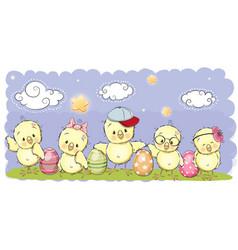 Cute cartoon chickens cute cartoon chickens vector