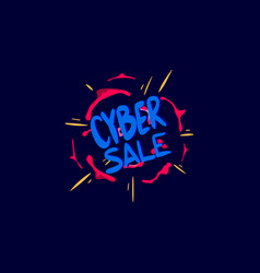 cyber sale poster to attract attention vector image